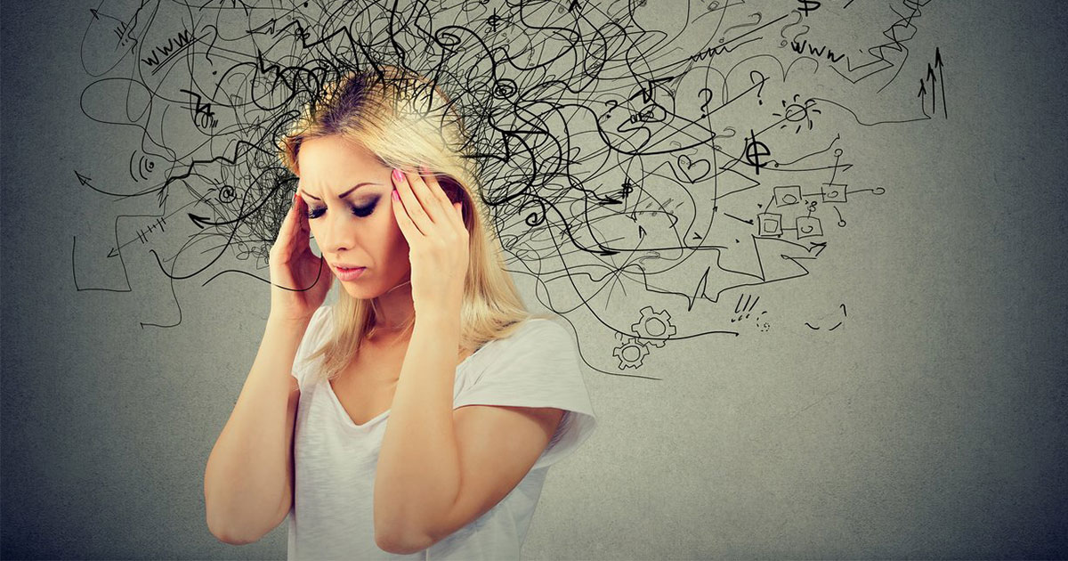 a woman dealing with the unique adhd symptoms in women